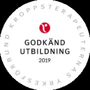 Godkänd utbildning signerad Kroppsterapeuternas Yrkesförbund 2019